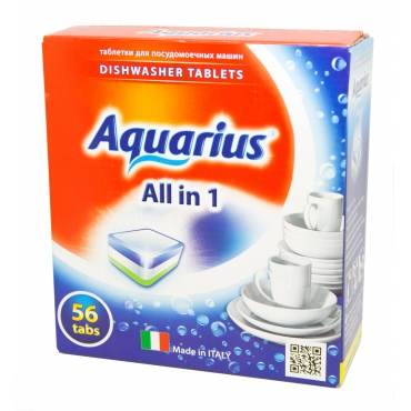 "Таблетки для ПММ ""All in 1"" AQUARIUS, 56 таб."