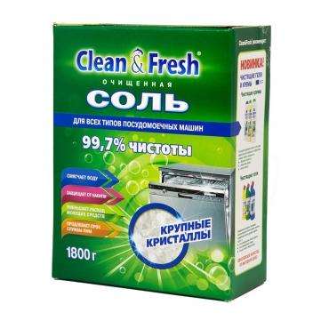 Соль для ПММ CLEAN&FRESH гранулированная 1,8 кг.  СНЯТ С ПРОИЗВОДСТВА