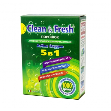 Порошок для ПММ CLEAN&FRESH 1000 гр.