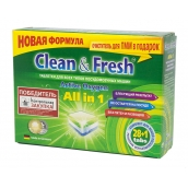 Таблетки для ПММ CLEAN&FRESH All in 1, 28 таблеток