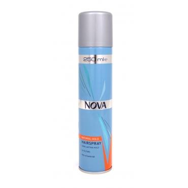 Лак для волос NOVA супер фиксации 250 мл с провитаминами В5, оранжевый