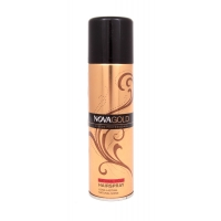 Золотистый лак для волос NOVA GOLD с протеинами шёлка 200 мл, красный