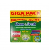 "Таблетки для ПММ CLEAN&FRESH ""All in 1"", 150 таб."