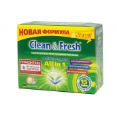Таблетки для ПММ CLEAN&FRESH All in 1, 15 таб.