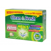 Таблетки для ПММ CLEAN&FRESH All in 1, 30 таб.+ очист. 1 шт.